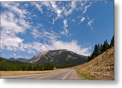Metal Print featuring the photograph Road To Big Sky Country by Charles Kozierok
