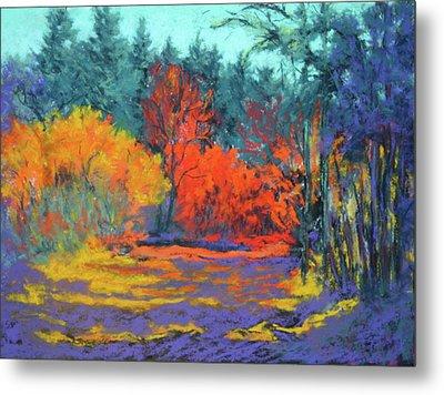 Metal Print featuring the painting Road To Deer Creek by Nancy Jolley