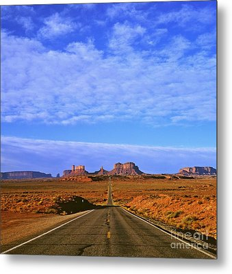 Road To Monument Valley Metal Print by Alex Cassels