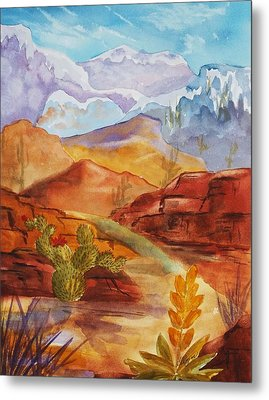 Metal Print featuring the painting Road To Nowhere by Ellen Levinson