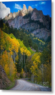 Road To Silver Mountain Metal Print