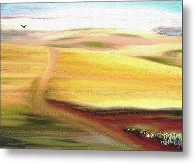 Road To Somewhere Metal Print by Lenore Senior