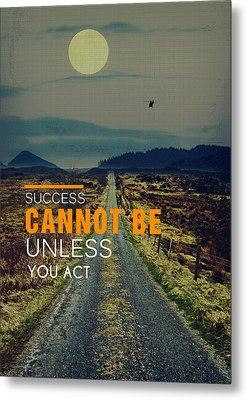 Road To Success Metal Print by Celestial Images