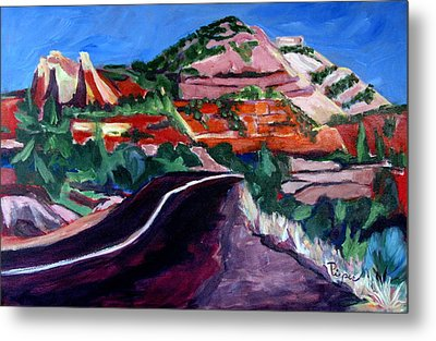Road To Zion National Park Metal Print by Betty Pieper