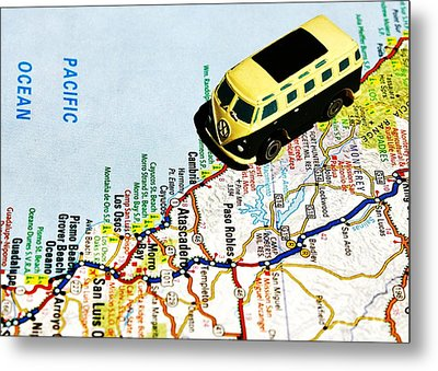 Road Trip - The Pch Metal Print by Benjamin Yeager