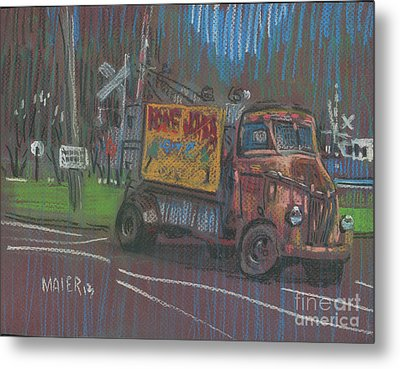 Metal Print featuring the painting Roadside Advertising by Donald Maier