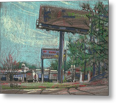 Roadside Billboards Metal Print by Donald Maier