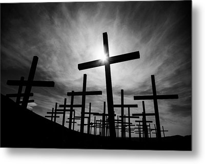 Roadside Memorial Metal Print by Dave Bowman