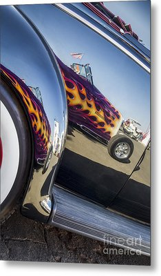 Roadster Reflection- Metal And Speed Metal Print by Holly Martin