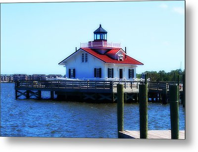 Metal Print featuring the photograph Roanoke Marshes Light 4 by Cathy Lindsey