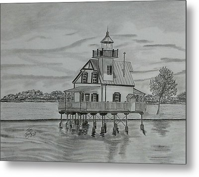 Roanoke River Lighthouse Metal Print