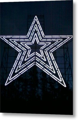 Roanoke Star By Angelia Clay Metal Print by Angelia Hodges Clay