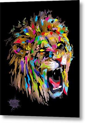 Metal Print featuring the digital art Roar by Anthony Mwangi