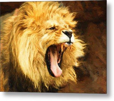 Roaring Lion Metal Print