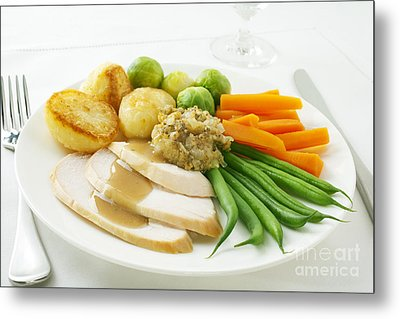Roast Chicken Dinner Metal Print by Colin and Linda McKie
