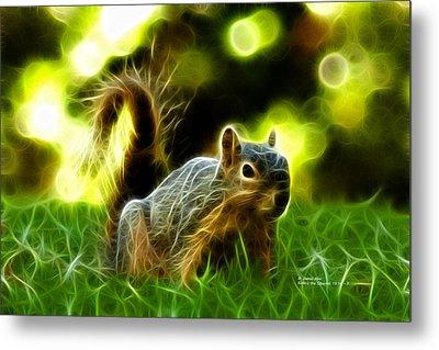 Robbie The Squirrel - 7376 - F Metal Print by James Ahn