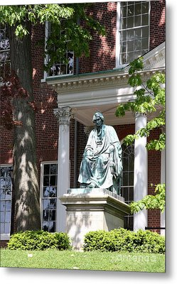 Robert Brooke Taney Statue - Maryland State House  Metal Print by Christiane Schulze Art And Photography