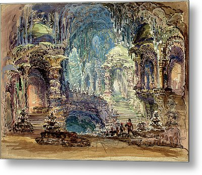 Robert Caney, British 1847-1911, Interior Scene With Troops Metal Print by Litz Collection