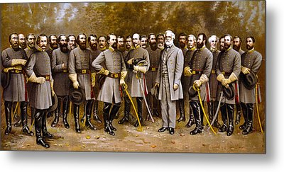 Robert E. Lee And His Generals Metal Print
