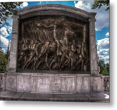 Robert Gould Shaw Memorial On Boston Common Metal Print