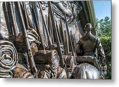 Robert Gould Shaw Memorial Metal Print by Scott Thorp