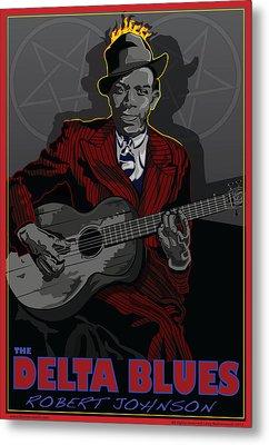 Robert Johnson Delta Blues Metal Print by Larry Butterworth