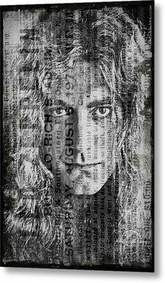Robert Plant - Led Zeppelin Metal Print by Absinthe Art By Michelle LeAnn Scott