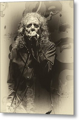 Robert Plant Metal Print by Michael  Wolf