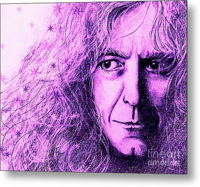 Robert Plant Purple Metal Print by Patrice Torrillo