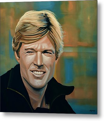 Robert Redford Metal Print