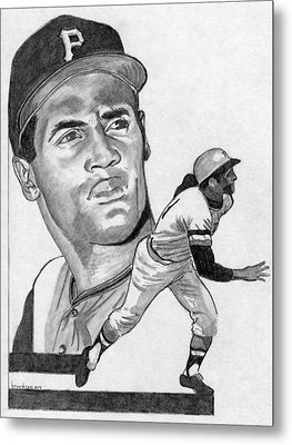 Roberto Clemente Metal Print by Brian Condron