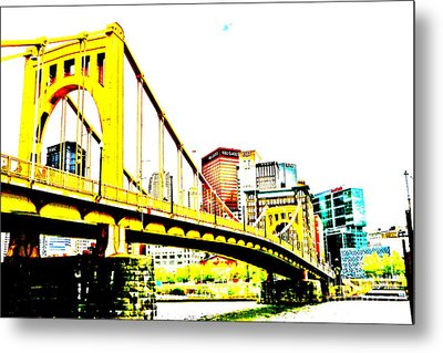 Roberto Clemente Bridge Metal Print by Jay Nodianos