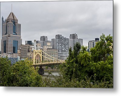 Roberto Clemente Bridge Pittsburgh Pa Metal Print
