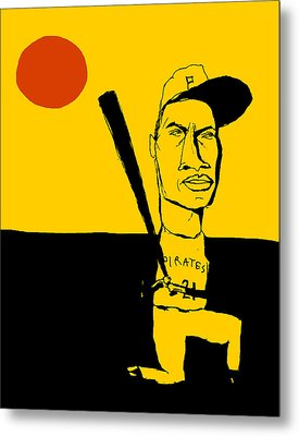 Roberto Clemente Pittsburgh Pirates Metal Print