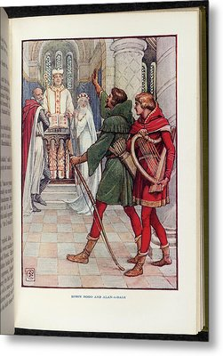 Robin Hood And Alan-a-dale Metal Print