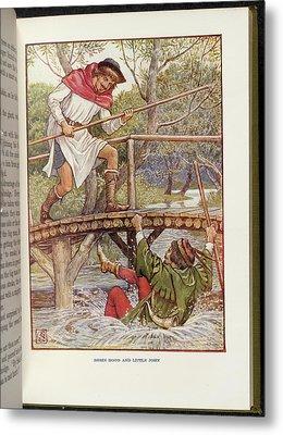 Robin Hood And Little John Metal Print
