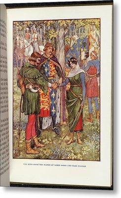 Robin Hood And Maid Marian Metal Print