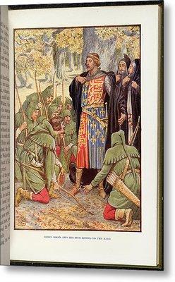 Robin Hood Before Richard I Metal Print