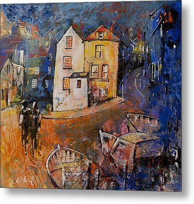 Robin Hood's Bay Evening Metal Print