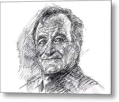Robin Williams Metal Print by Ylli Haruni