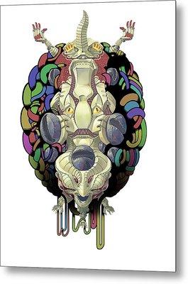 Robot God - Trinity 2.0 Metal Print by Augustinas Raginskis