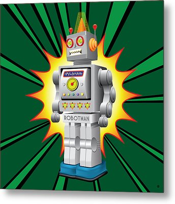 Robotman Metal Print by Gary Grayson