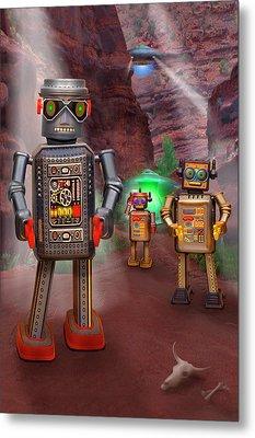 Robots With Attitudes 2 Metal Print by Mike McGlothlen