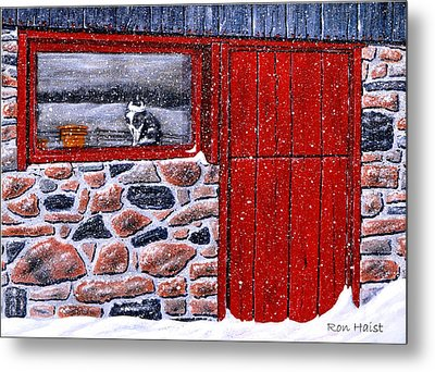 Metal Print featuring the painting Rob's Barn by Ron Haist