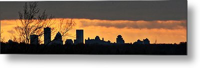 Rochester Skyline Metal Print by Richard Engelbrecht