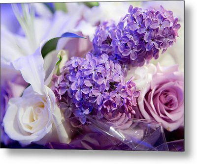 Metal Print featuring the photograph Rochester Wedding Bouquet by Courtney Webster