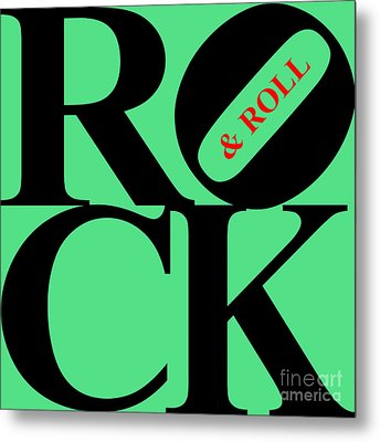 Rock And Roll 20130708 Black Green Red Metal Print by Wingsdomain Art and Photography