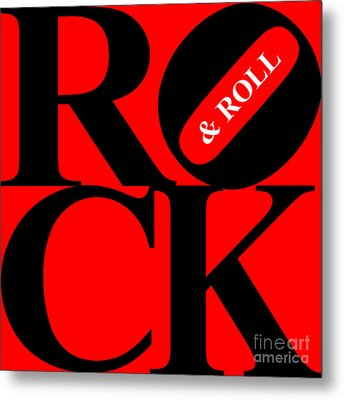 Rock And Roll 20130708 Black Red White Metal Print by Wingsdomain Art and Photography