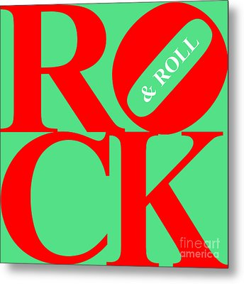 Rock And Roll 20130708 Red Green White Metal Print by Wingsdomain Art and Photography