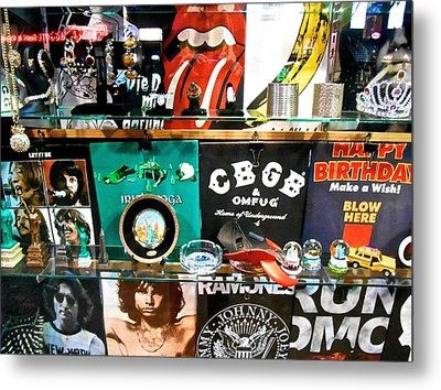 Rock And Roll On St. Marks   Nyc Metal Print by Joan Reese